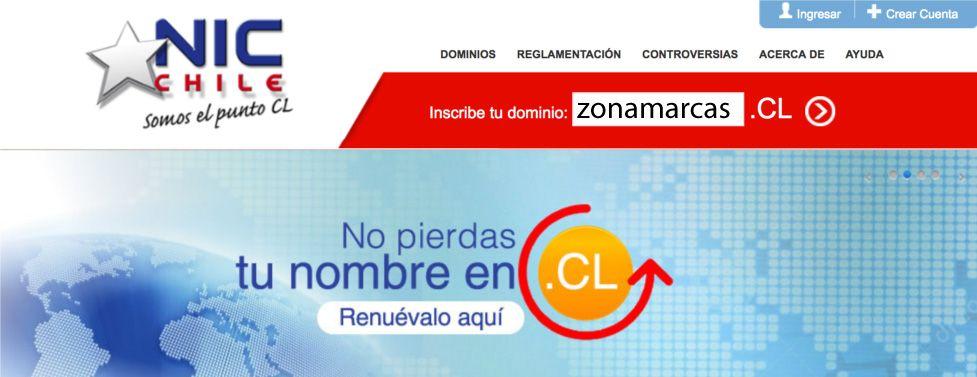 Registro dominio .cl